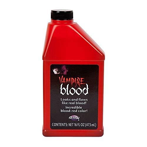 Unbekannt Flasche von Vampir-Kunstblut für Halloween, Theater-Make-Up für Kostüm, 0,47 Liter