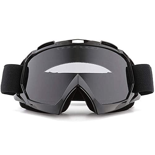 Lacotis Gafas de Moto, Gafas de Moto Motocross Dirt , Motocross Dirt Bike Racing Gafas de Esquí Lente PC Esponja, Gafas Para Deportes al Aire libre -Negro