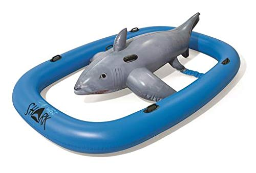 Bestway H2OGO! Tidal Wave Shark Ride Inflatable Pool Game | Great for Pool Parties | Fun & Unique Summer Pool Toy for Adults & Kids