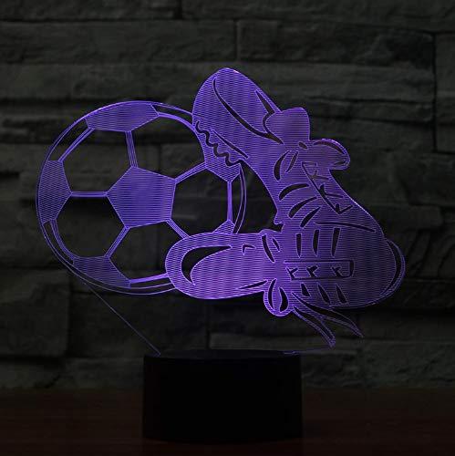 Acryl Hause Nacht Led Usb Touch Nachtlicht Schreibtisch Tisch Haus Dekor 7 Farbwechsel Boy Kid Spielzeug Tragbare Visuelle 3D Fußballschuhe