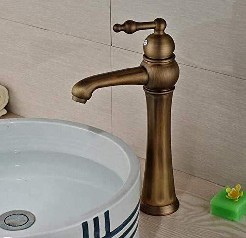 ZLININ Grifo de lavabo de agua fría de latón cromado
