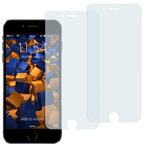 mumbi Schutzfolie kompatibel mit iPhone 6 Folie, iPhone 6s Folie klar, Displayschutzfolie (2X)