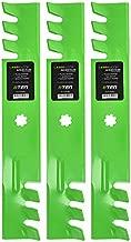 8TEN LawnRAZOR Mulching Blade Set for John Deere GX21784 GY20852 AM141035 GX21784 GX21786 GY20852 48 Inch Deck 3 Pack