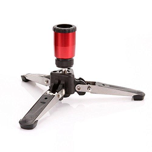"FocusFoto Mini Tripod Feet Three Legs Support Stand Base 3/8"" for Monopod Benro Manfrotto"