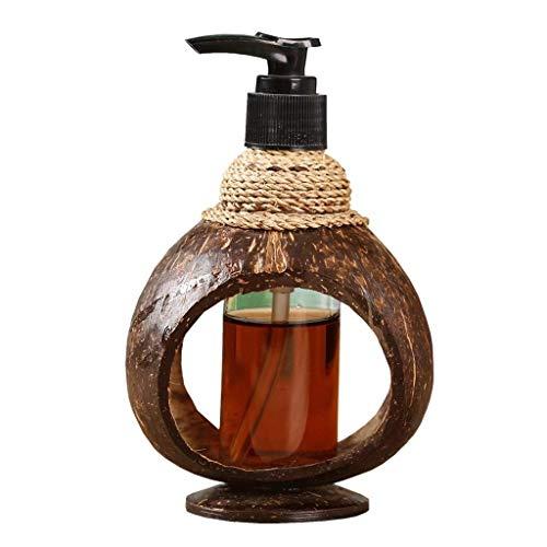 YM963 Dispensador de jabón, Retro Jardín Dispensador de jabón, desinfectante de Manos champú Gel de Ducha, dispensador de jabón, Ducha, dispensador de la loción, 125ML