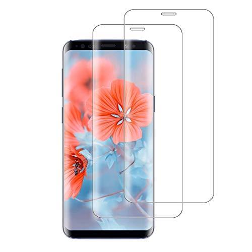 XSWO 2 Pièces Verre Trempé Compatible avec Samsung Galaxy S9 Plus, Vitre Protection [3D Couverture Complète] [Haute Sensibilité] [Anti Rayures] [sans Bulles] Film Protection d'écran Galaxy S9 Plus