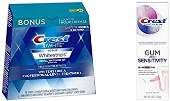 Crest 3D White Dental Whitening Kit, Professional Effects Whitestrips, 44 Count (Pack of 1), and Pro-Health Gum And...