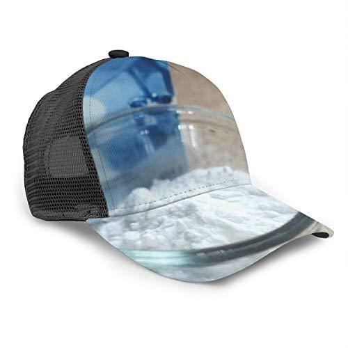 Zhgrong Backpulver Box Weißes Pulver Natriumbikarbonat 3D Eimer Hut Sonnenhut UV-Schutz Outdoor-Wanderkappe