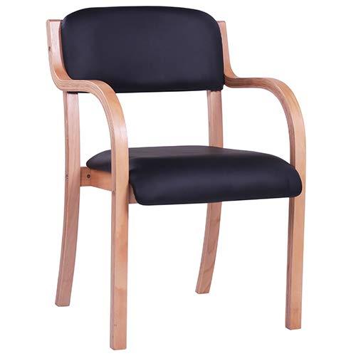 Besucherstuhl mit Armlehnen JANA AL Holzstuhl Armlehnstuhl Stapelstuhl Wartezimmerstuhl Stuhl Seniorenheime und Krankenhäuser