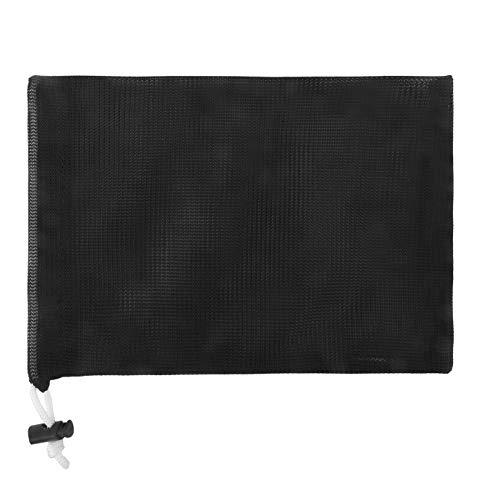 巾着のスポーツ バッグ ランドリー メッシュ バッグ 多機能 100% 洗濯機と乾燥機の安全なメッシュ バッグ エコフレンドリーな再利用可能なバッグ (ブラック, 30.5cm X 45.7cm)