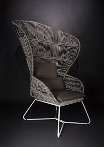 Rosa Splendiani Poltrona Design Stile Pavone - arredo per Esterno e Giardino