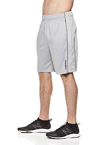 HEAD Men's Jackpot Knit Workout Gym & Running Shorts w/Elastic Waistband & Drawstring