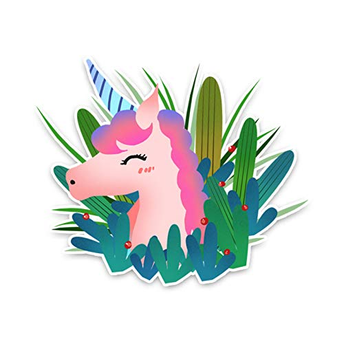 CTMNB Autosticker 16CM*13CM Cartoon Plants En Paarden PVC Artistieke Auto Sticker Decal Grafisch