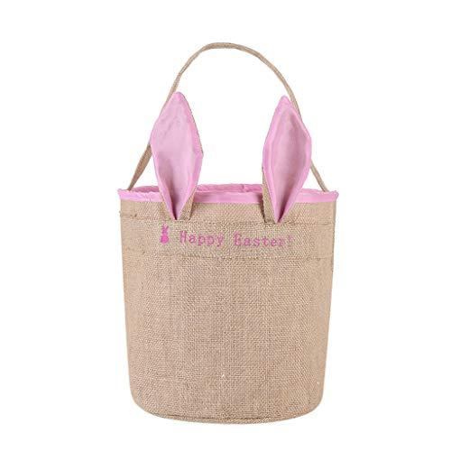 Osterhase Tasche, Osterei Korb Urlaub Kaninchen Hase gedruckt Leinwand Geschenk Carry Eggs Candy Bag Home Textilien