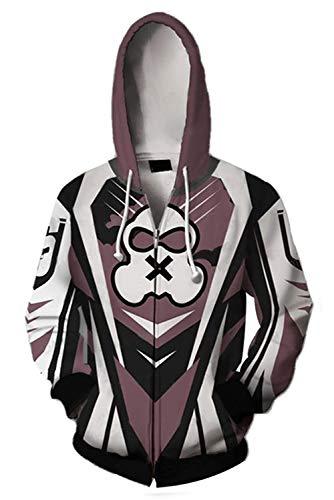 MingoTor Herren Damen für Zofia Regenbogen Six Siege Kapuzenjacke 3D Pullover mit Kapuze Sweatjacke Hoodie Cosplay Kostüm Unisex