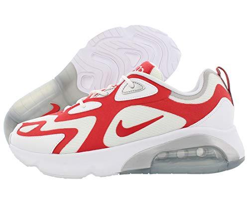 Nike Air Max 200 Laufschuhe für Herren, - Farbe Rot Weiß Geschlecht 1 - Größe: 45 EU