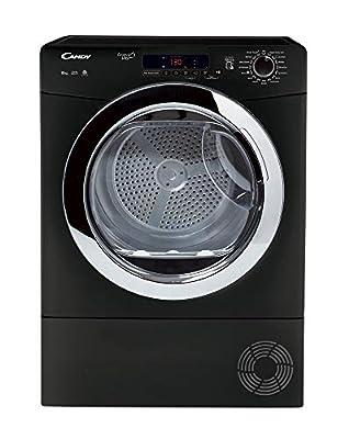 Candy Grand O'Vita GVSC10DCGB Freestanding Condenser Tumble Dryer, Large Capacity, 10 kg Load, Black