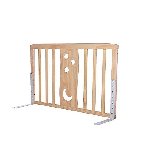 LYFHL Hölzerne Bettgitter Bettschutz Extra hohe und Lange Bedrail Sicherheit für Kinder Baby für Kleinkinder (größe : 98+98cm)