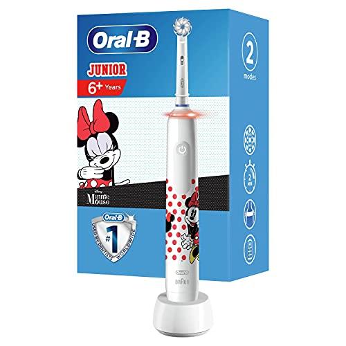 Oral-B Junior Brosse à Dents Électrique Rechargeable avec 1 Manche et 1 Brossette, enfant de 6 ans et plus, Pour un brossage en douceur, Édition Mickey