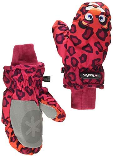 Barts Barts Kinder Mädchen Fäustlinge Nylon Mitts Kids Leopard Orange Tiermotiv (pink), Größe:4