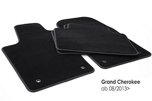 KH piezas felpudos/Terciopelo Auto Premium Calidad Plástico–Alfombras Alfombrillas 4piezas) Negro