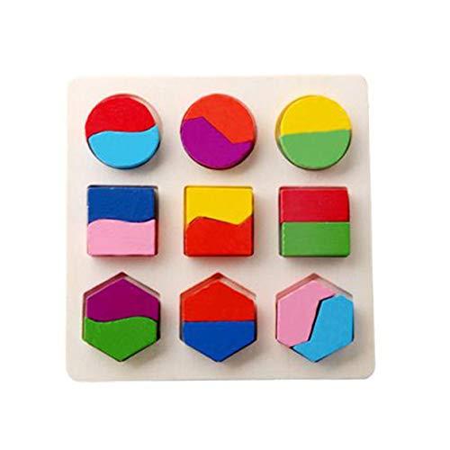 Juguetes de Rompecabezas para bebés Tablero de Agarre cognitivo Forma geométrica Combinación Juguetes educativos para niños Figura de Color Conjunto de Juguetes cognitivos