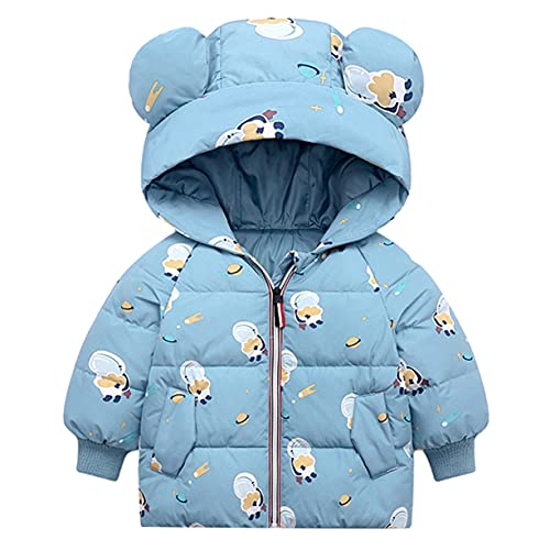 Bambini Piumino Cappotto con Cappuccio Inverno Giacca Ragazzi Ragazze Manica Lunga Ultraleggero Outwear per Bimba Bimbo 3-4 Anni