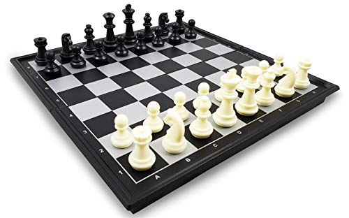 Magnetic Travel Chess Set with Portable Folding Chess Board Design, Perfect Educational Toys for Schools, Kids and Adults