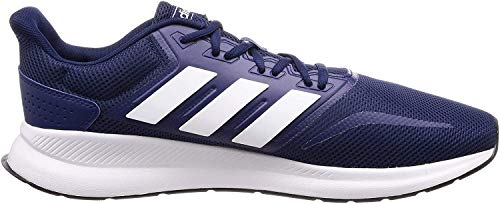 adidas Herren Runfalcon Laufschuhe, Blau (Dark Blue/Footwear White/Core Black 0), 44 EU