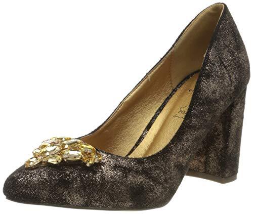 El Caballo Trobal, Zapato de tacón Mujer, Beige, 39 EU