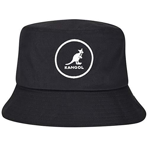 Kangol Cotton Bucket Cappello a Falda Larga, Nero, M Unisex-Adulto