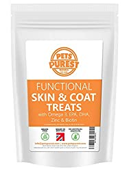 100% NATURAL SKIN & COAT IMPROVER: Our recipe is healthy and simple, containing high levels of fresh protein – salmon & trout meat (58%) mixed with active ingredients to improve your pet's skin & coat. Omega 3 fatty acids, EPA, DHA, Zinc & Biotin hel...