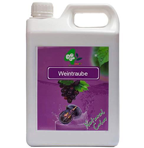 Fruchtsirup für Bubble Tea Früchte Obst Sirup ohne künstliche Farbstoffe 100% Vegan Weintraube 2,5kg 1900 ml