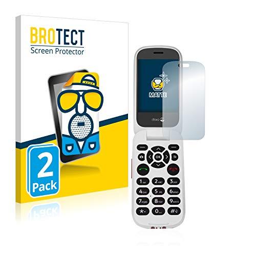 BROTECT 2X Entspiegelungs-Schutzfolie kompatibel mit Doro 7060 (Inneres Bildschirm) Bildschirmschutz-Folie Matt, Anti-Reflex, Anti-Fingerprint