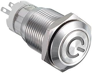 KCD1 Interruttore a bilanciere rotondo 20MM 4 pin ON//OFF 6A Ampere 250VAC DPST a ritenuta 220V LED acceso auto Interruttori a pulsante rosso,5pcs