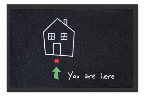 Fussmatte You are here! Wegweiser Haus Fussabtreter, Schmutzmatte, Türvorleger Fußmatte FUN