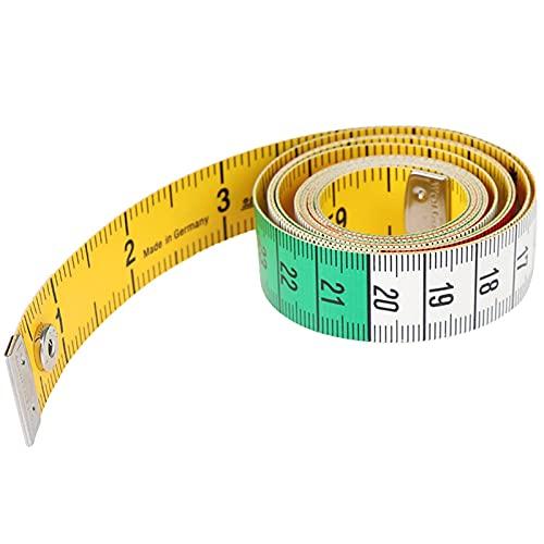 kengbi Cinta métrica Reutilizable Que no es fácil de Romp 1 unids 1.5m 60in botón de Medida Medida Herramientas de Costura Cinta Plana Herramienta de medición de 150 cm de Cuerpo