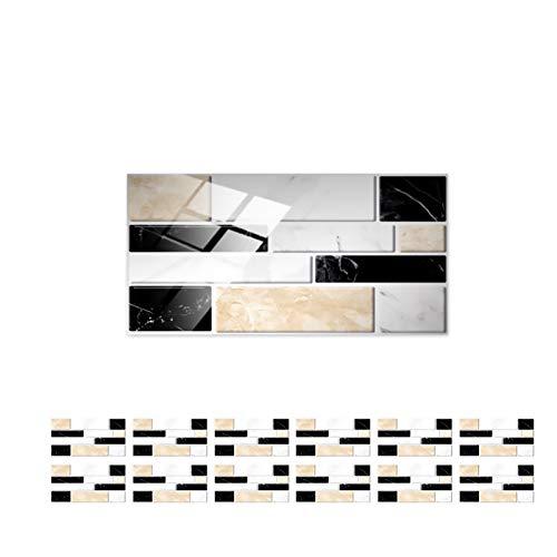 Azulejos pegatinas, 12 PCS Pegatinas de azulejos, Pegatinas de pared de renovación,...