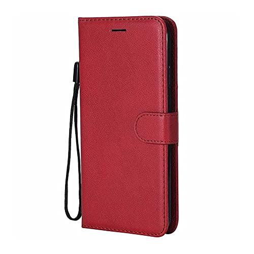 HHF-1 1fortunate Cajas del teléfono para Sony Xperia 10 8 xA2 xz4 xz3, Cartera de Billetera de Cuero para Sony Xperia Z5 Compact XA XA1 Ultra L3 (Color : Rojo, Material : For Sony XA1 Ultra)