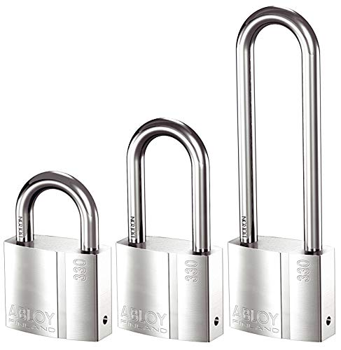 ABLOY - PL330T_11820121 PL330 Brass Padlock, Bright Chrome, Model: PL330T/25