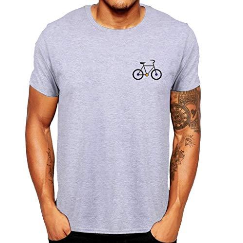 Manga Corta Camiseta Hombres Nuevo Verano Dibujos Animados Bicicleta Patrones Impresos Blusa Superior Tops Calavera 2019 Moda