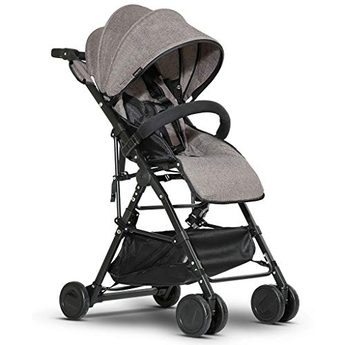 Why Should You Buy Baby Stroller can sit Reclining Light Folding Simple Stroller Child Baby Four Sea...