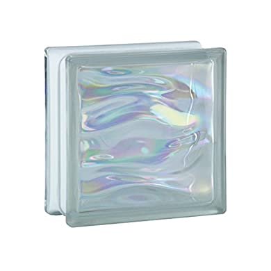 """Foto di Mattone in vetro modello """"Aqua"""""""