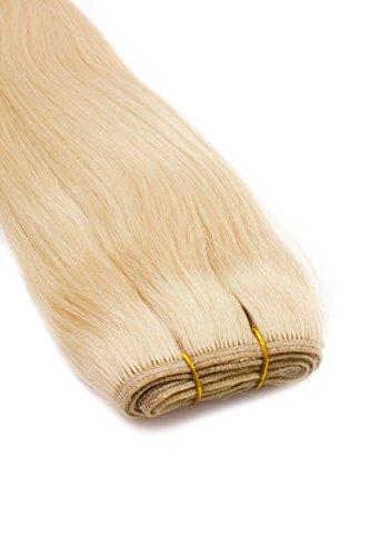 Weft Echthaartresse glatt 100% indisches Echthaar 80cm Haarverlängerung Extensions in 10 wählbaren Farben Nr. 613