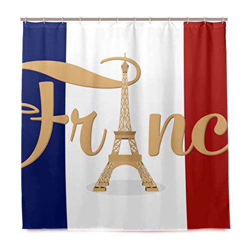 FOURFOOL Shower Curtain,Pray Paris 13 November 2015 Abstract,Waterproof Bathroom Curtain,Modern Bath Curtain with 12 Hooks,72 x 72 Inch