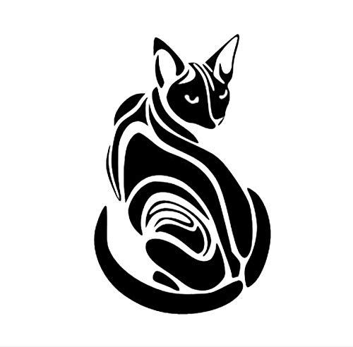 Autos Dekor Aufkleber Tür Pvc Stoßstange Sphinx Katze Kraftstoff Deckel Wasser Regen Beweis Abnehmbare Lkw Motorrad Änderung Benutzerdefinierte 10X16CM 5Stücke