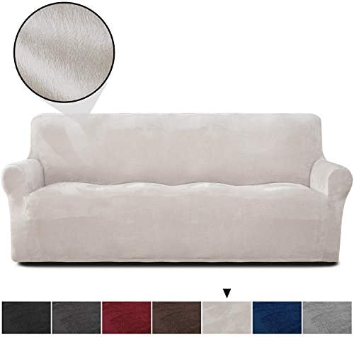 Best Rose Home Fashion RHF Velvet-Sofa Slipcover,Stretch Sofa Cover, Slipcover for Leather Couch-Polyeste
