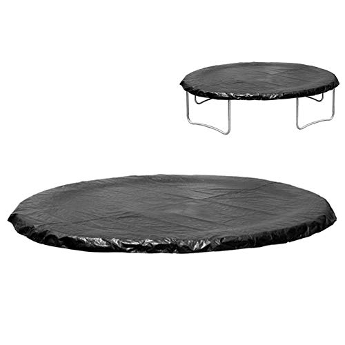 Gorge-buy 6/8/10/12/13 Inch UV Resistant Trampolines Weather Cover,Black Rainproof Wear-Resistant Round Trampoline Protective Cover for Rain Snow Sun Shade Protection