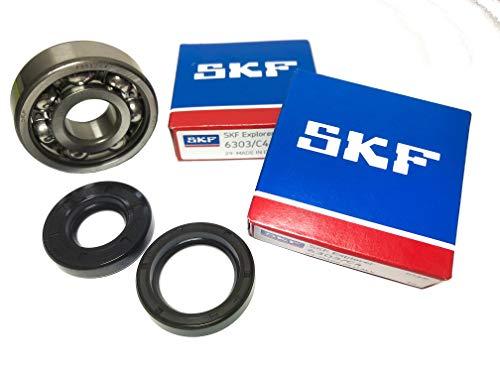 SKF C4 Juego de rodamientos de cigüeñal con sellos de eje Jaula metálica de alta calidad