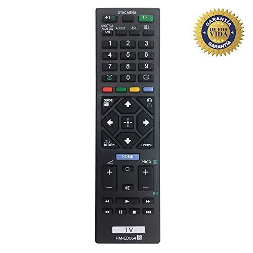 MYHGRC Nuevo Control Remoto de reemplazo de TV RM-ED054 para Control Remoto de Sony TV Ajuste para LCD/LED Smart TV de Sony - No se Requiere configuración Control Remoto Universal